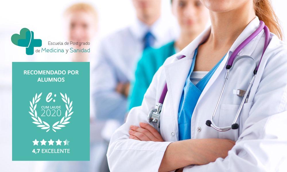 Las opiniones de la Escuela de Postgrado de Medicina y Sanidad hacen posible el Sello Cum Laude 2020