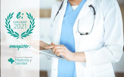 Sello Cum Laude 2021 por las opiniones de Escuela de Postgrado de Medicina y Sanidad